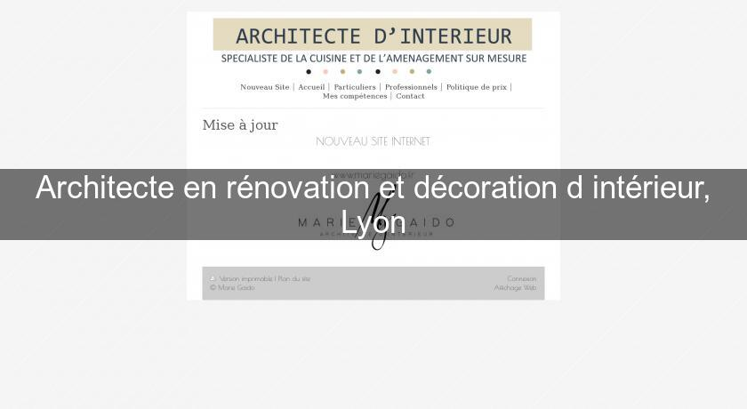 Architecte en r novation et d coration d 39 int rieur lyon for Renovation interieur lyon