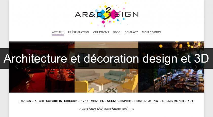 architecture et d coration design et 3d architecte. Black Bedroom Furniture Sets. Home Design Ideas