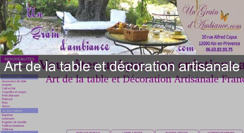 Art de la table 63