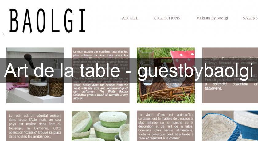 Art de la table - guestbybaolgi