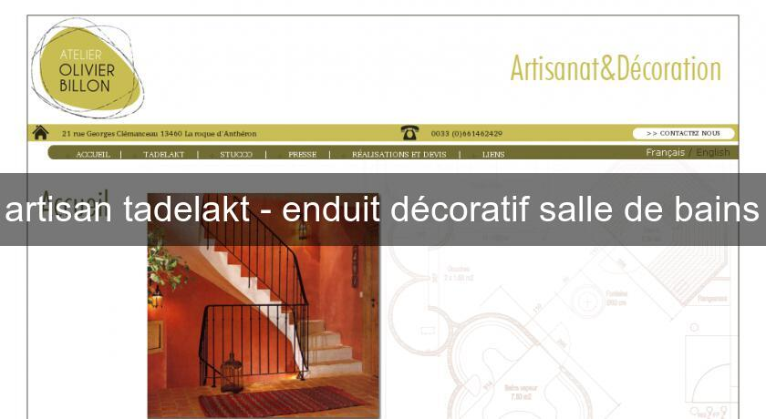 artisan tadelakt enduit d coratif salle de bains d coration int rieure. Black Bedroom Furniture Sets. Home Design Ideas