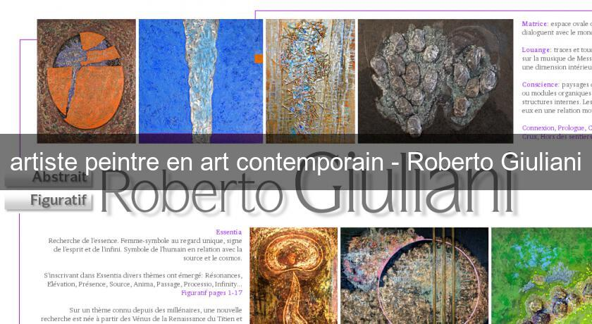 artiste peintre en art contemporain - Roberto Giuliani
