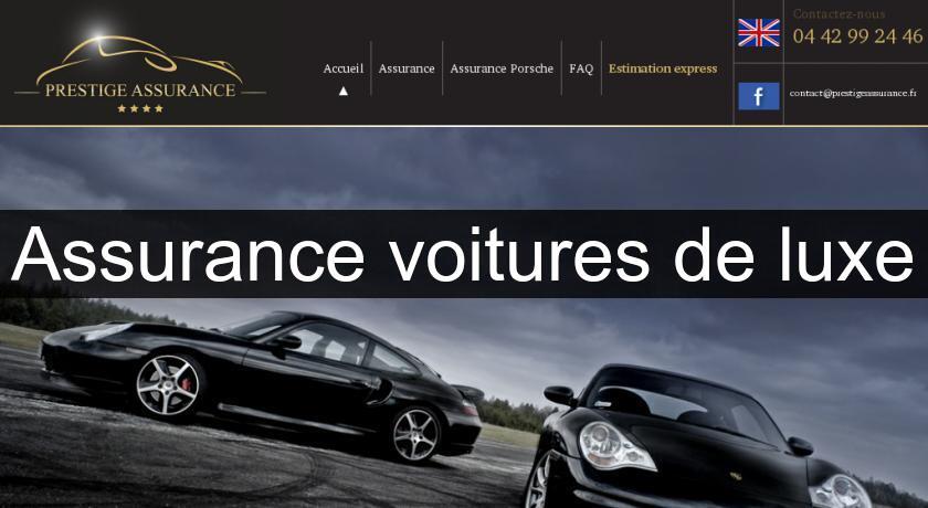 assurance voitures de luxe assurance auto. Black Bedroom Furniture Sets. Home Design Ideas