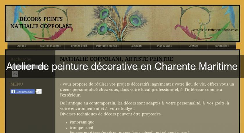 atelier de peinture d corative en charente maritime artistes. Black Bedroom Furniture Sets. Home Design Ideas