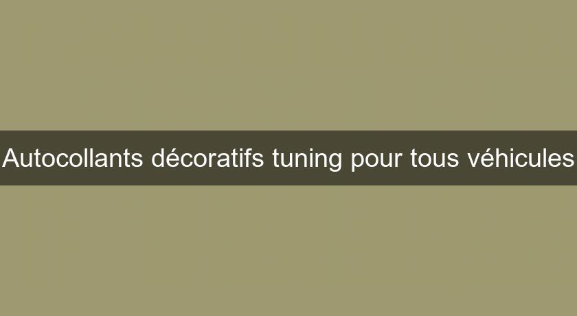 Autocollants d coratifs tuning pour tous v hicules tuning for Autocollants decoratifs