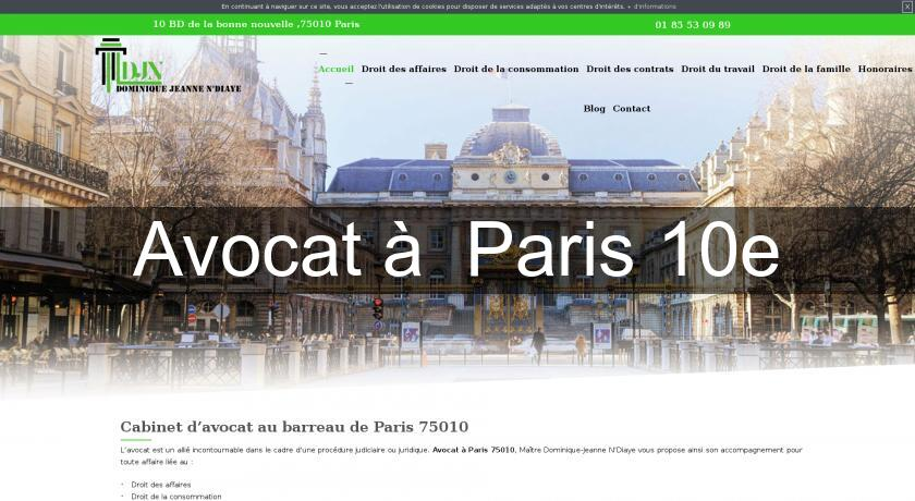 Avocat à  Paris 10e