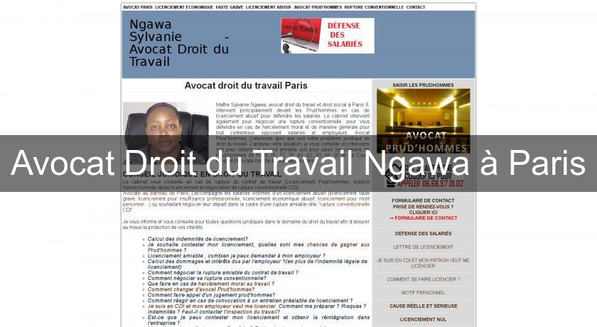 avocat droit du travail ngawa paris avocats. Black Bedroom Furniture Sets. Home Design Ideas