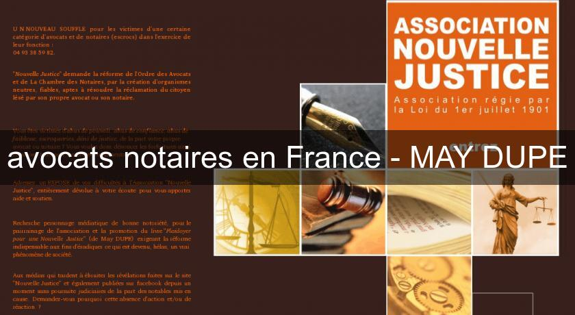 avocats notaires en France - MAY DUPE