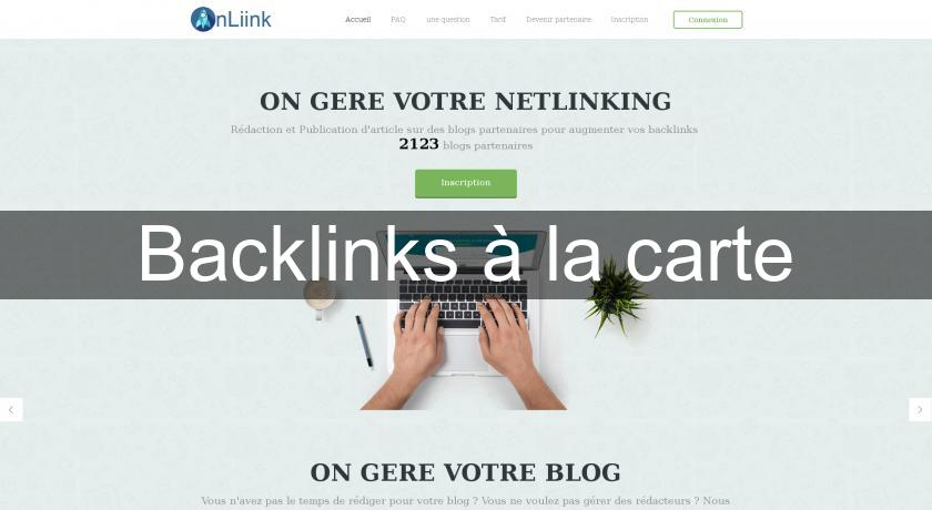 Backlinks à la carte