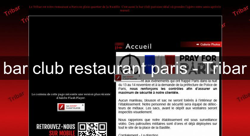 bar club restaurant paris - Tribar
