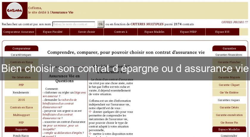 Bien Choisir Son Contrat D Epargne Ou D Assurance Vie Assurance Vie