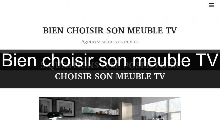 bien choisir son meuble tv meuble t l hifi. Black Bedroom Furniture Sets. Home Design Ideas