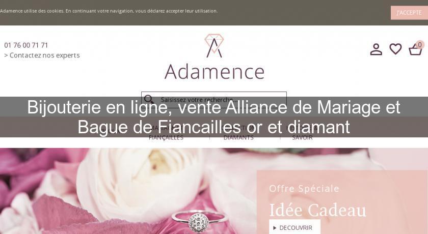 bijouterie en ligne vente alliance de mariage et bague de fiancailles or et diamant bijoutier. Black Bedroom Furniture Sets. Home Design Ideas