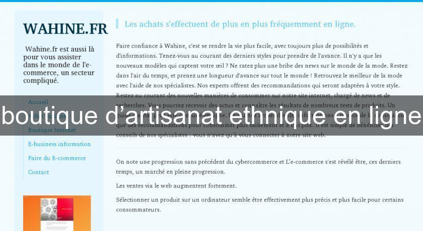 Boutique Du0027artisanat Ethnique En Ligne Décoration Du Monde