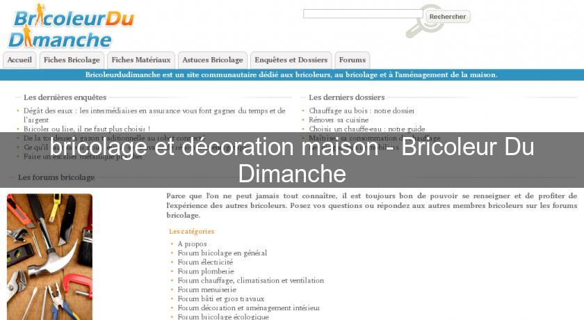 bricolage et d coration maison bricoleur du dimanche bricolage. Black Bedroom Furniture Sets. Home Design Ideas