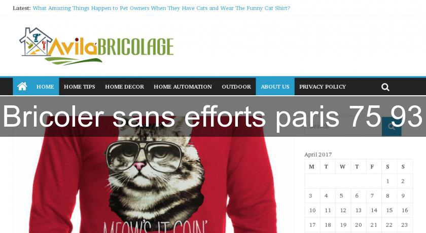 Bricoler sans efforts paris 75 93