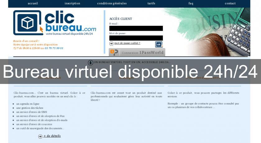 Bureau virtuel disponible 24h/24