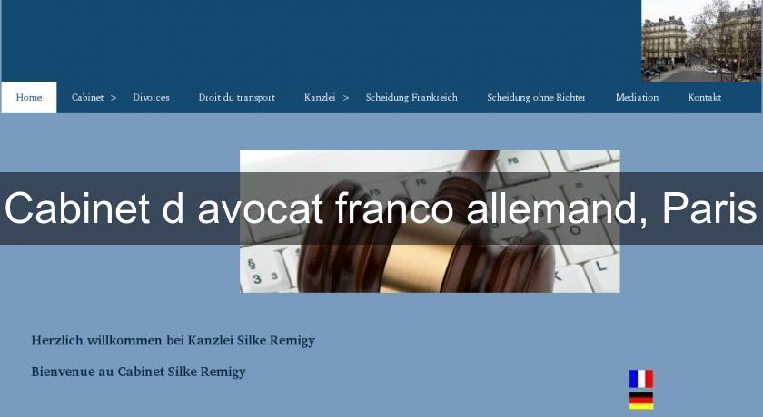 cabinet d 39 avocat franco allemand paris avocats. Black Bedroom Furniture Sets. Home Design Ideas