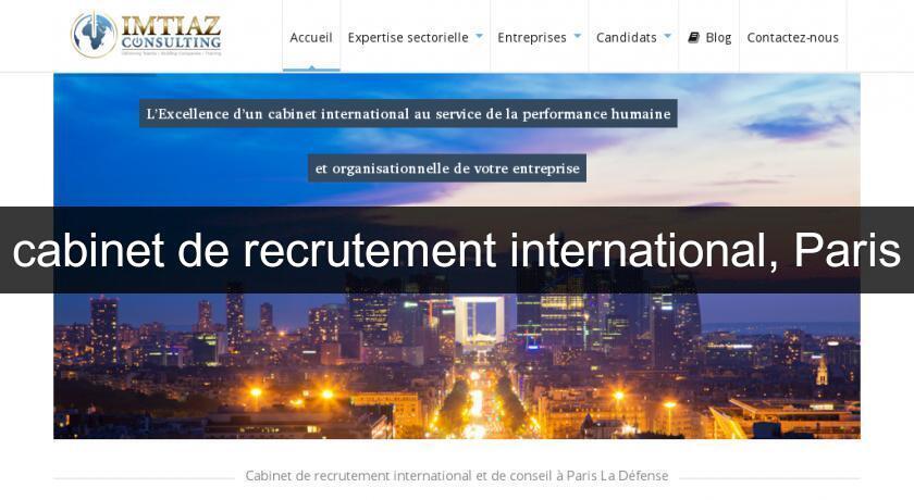 Cabinet de recrutement international paris emploi et formation - Cabinet de recrutement france ...