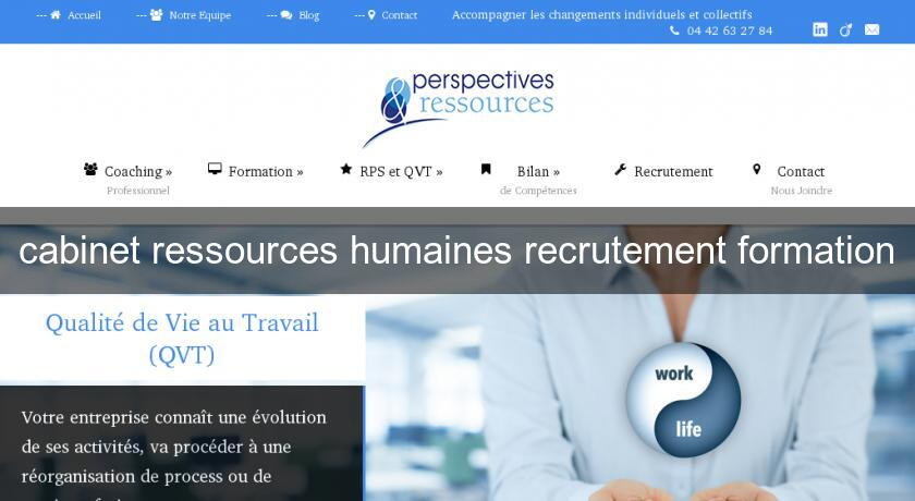 cabinet ressources humaines recrutement formation