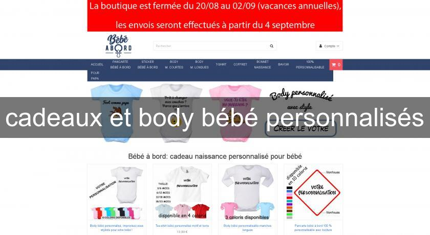 cadeaux et body bébé personnalisés Vetement Bébé 5fadf8d7749