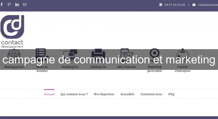 campagne de communication et marketing