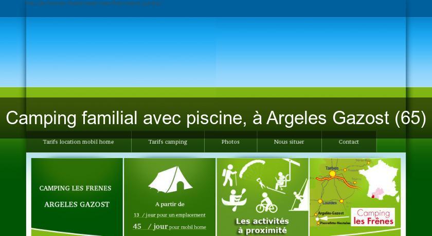 camping familial avec piscine argeles gazost 65 camping pyrnes