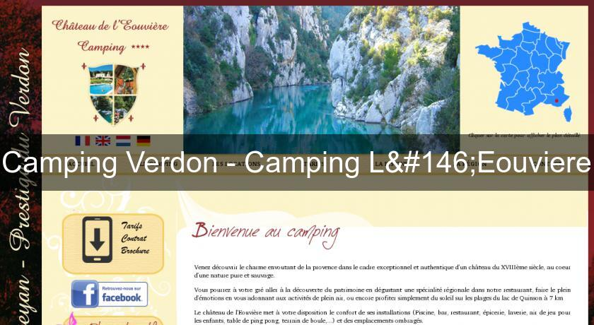 Camping Verdon - Camping L'Eouviere