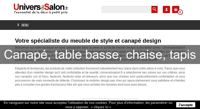 Canapé, table basse, chaise, tapis