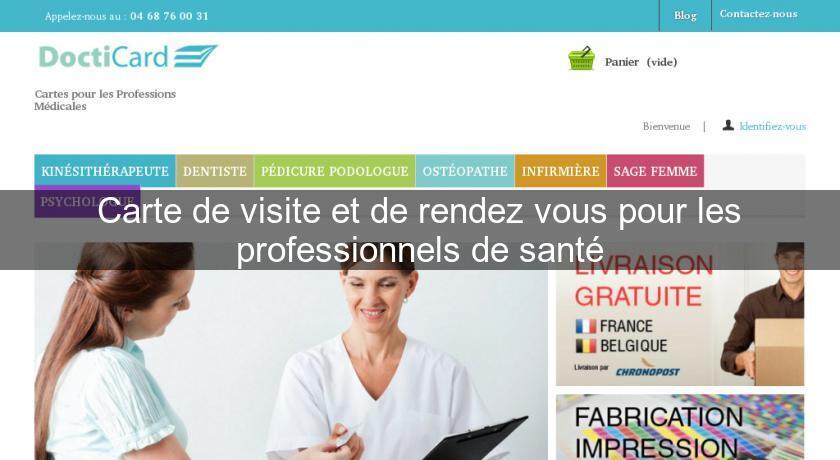 Carte De Visite Et Rendez Vous Pour Les Professionnels Sant Agence Pub