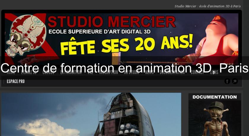 Centre de formation en animation 3D, Paris