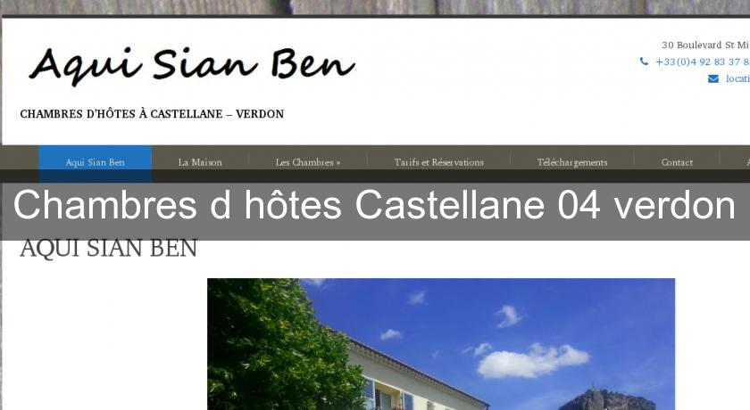chambres d 39 h tes castellane 04 verdon provence alpes cote d azur. Black Bedroom Furniture Sets. Home Design Ideas