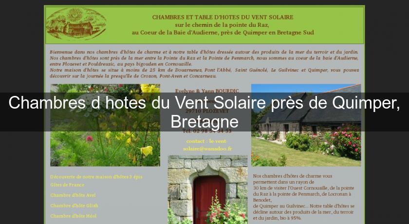 Chambres d\'hotes du Vent Solaire près de Quimper, Bretagne Chambres ...