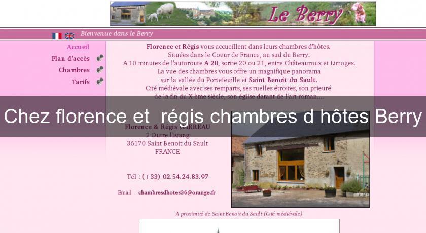 Chez florence et régis chambres d\'hôtes Berry Chambres Hotes