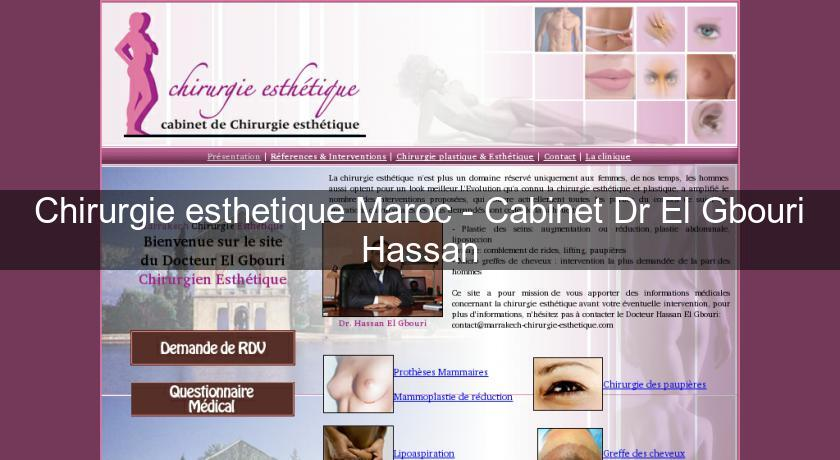 chirurgie esthetique maroc cabinet dr el gbouri hassan chirurgie esth tique. Black Bedroom Furniture Sets. Home Design Ideas
