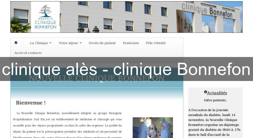 clinique alès - clinique Bonnefon