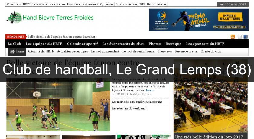 Club de handball, Le Grand Lemps (38)