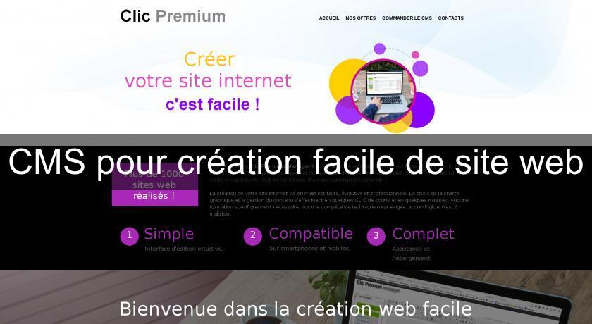 d4a78a55b4d CMS pour création facile de site web Site personnel