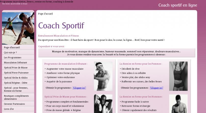 coach en ligne programme musculation forme exercices de fitness. Black Bedroom Furniture Sets. Home Design Ideas