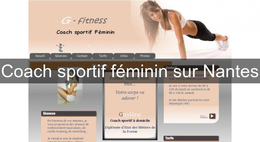 coach sportif f minin sur nantes cours domicile. Black Bedroom Furniture Sets. Home Design Ideas