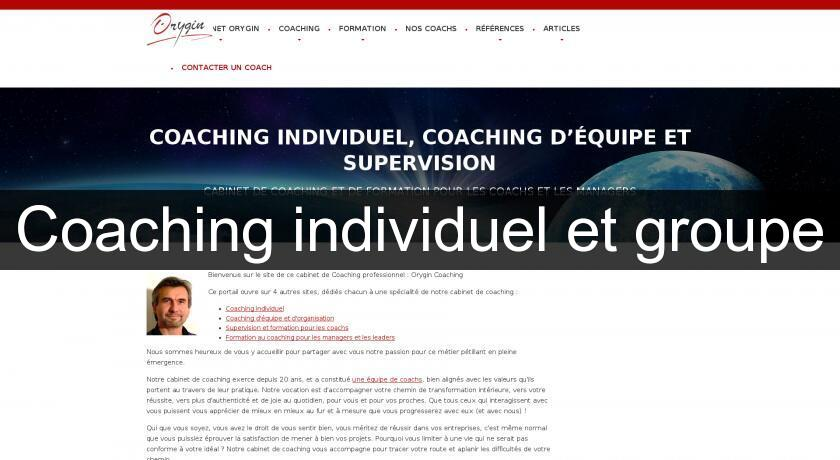 Coaching individuel et groupe