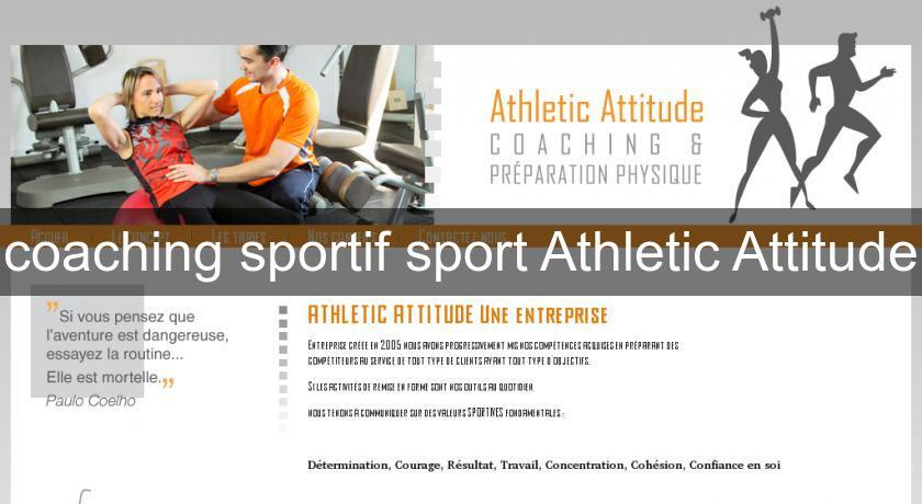 Coaching sportif sport athletic attitude cours domicile - Coach cuisine a domicile ...