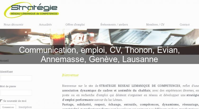 communication  emploi  cv  thonon  evian  annemasse  gen u00e8ve  lausanne association professionnelle