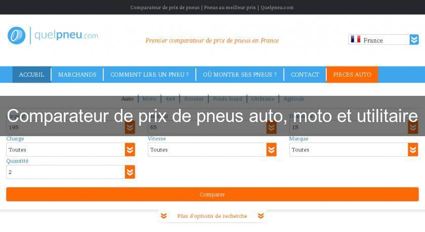 comparateur de prix de pneus auto moto et utilitaire pneu