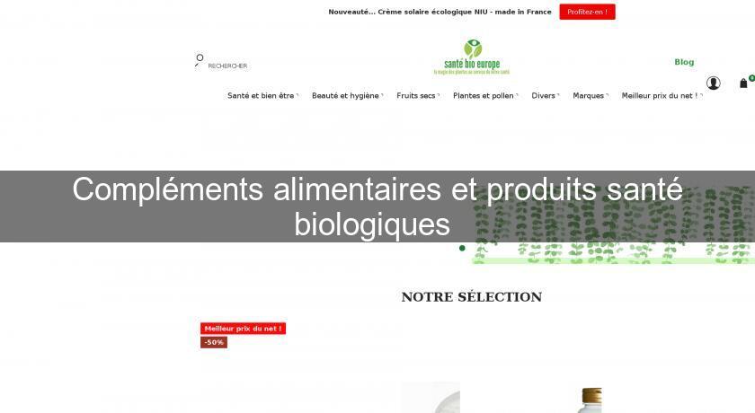 04f27ad5757 Compléments alimentaires et produits santé biologiques Produits bio