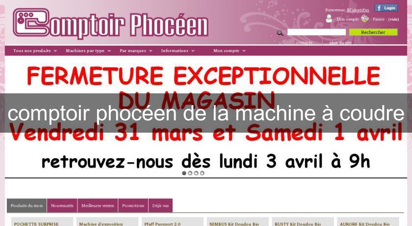 Comptoir phoc en de la machine coudre tissus patchwork - Comptoir phoceen de la machine a coudre ...