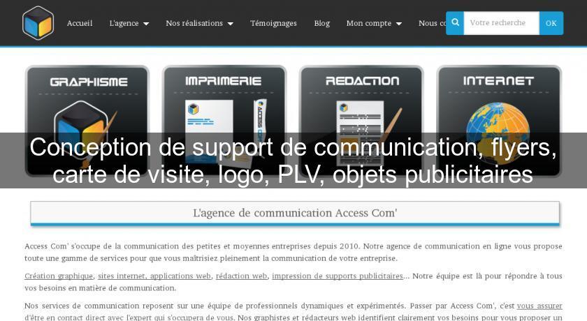 Conception De Support Communication Flyers Carte Visite Logo PLV Objets Publicitaires Et Marketing