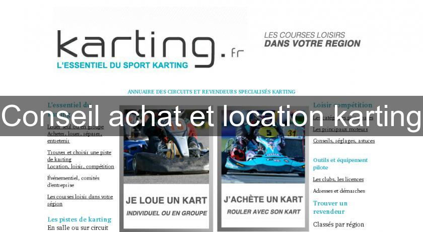 Conseil achat et location karting