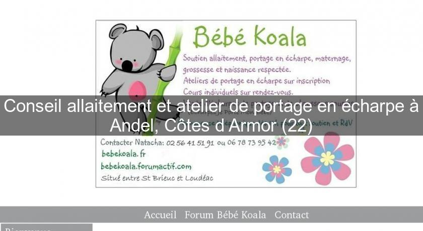 1fa83e169e7 Conseil allaitement et atelier de portage en écharpe à Andel