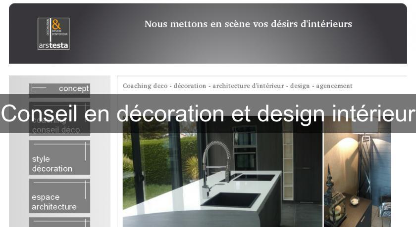 Conseil en décoration et design intérieur Décoration intérieure
